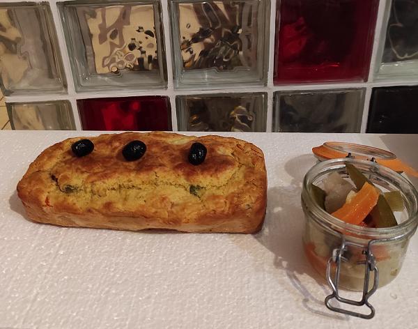 Cake aux légumes de couscous