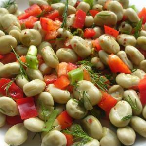 Salade de fèves et poivron
